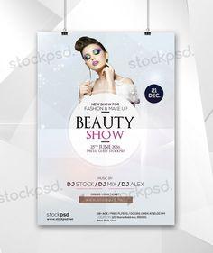 Beauty Show - Free Minimal PSD Flyer - Stockpsd.net