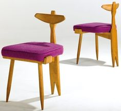 Guillerme and Chambron, Tripod Chair, 1950s.