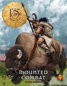 Bison Rider (cover of 13th Age Monthly)