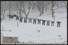 Snow dont stop wash day, Amish Country Ohio <3