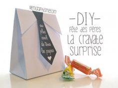 DIY Fête des pères – Cravate surprise | Le blog de Tout A Créer