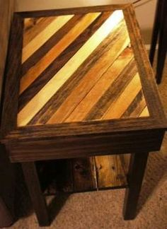 Ryobi Nation - Recycled Pallet Chevron Coffee table and end table