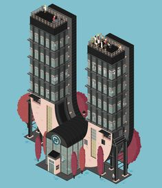An Architectural Alphabet: Amazingly Detailed Animated GIFs by Florian Schommer - Architizer