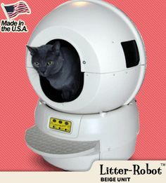 This thing looks like the Death Star but it's made doing the kitty litter so much more bearable. Thank you, Litter Robot.