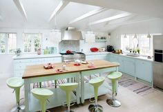 Pastel Kitchen: retro pastel kitchen