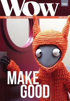 May 2014 issue. Mock Duck Studios wonderful squirrel. School for Creative Startups festival of entrepreneurship. #Makegood Festival!