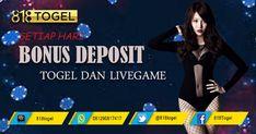 Bonus deposit untuk togel dan livegame buat anda para pecinta togel online. Segera daftar user id anda hanya di 818togel.net dan jadilah jutawan. #BonusTogel #TogelOnline #BandarTogelTerpercaya #AgenTogelOnline #BandarTogelResmi #BOaman #BOterpercaya #Togel #TogelHK #TogelSGP #Togelsydney #TogelHariIni