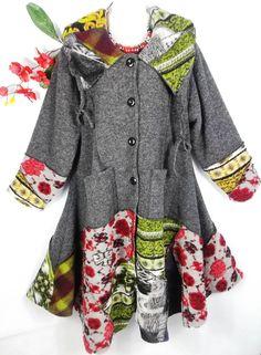 Sarah Santos Designer Mantel Wintermantel Jacke Patchwork Wolle XXL XXXL in Kleidung & Accessoires, Damenmode, Jacken & Mäntel   eBay