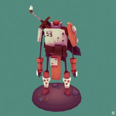 Character Modeling, 3d Character, Character Design, 3d Modeling, Robot Design, Game Design, Gareth Davies, Cool Robots, Low Poly Models