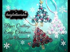 I hope you like my DIY Quilled Christmas Tree Ornament! I purchased the quilling paper at Michaels several years ago and the quilling tool from Hobby Lobby recently. A great online source for quilling supplies Paper Quilling Tutorial, Quilling Paper Craft, Paper Crafts For Kids, Christmas Bells, Simple Christmas, Christmas Tree Ornaments, Christmas Crafts, Quilling Videos, Quilling Techniques