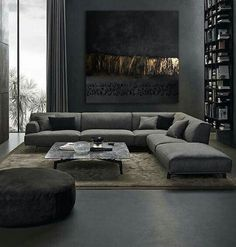 25 Elegantly Stylish Masculine Living Room Ideas with Bold Nuance Mid Century Modern Living Room Bold Eleg Elegantly ideas Living Masculine Nuance Room Stylish Masculine Living Rooms, Living Room Modern, Home Living Room, Living Room Decor, Masculine Room, Masculine Interior, Modern Couch, Cozy Living, Living Room Sofa Design