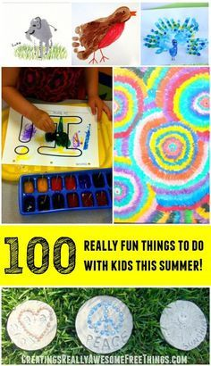 Love this list! 100 + clever (And easy) things to do with kids this summer!