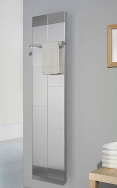So multifunctional, this is a radiator, mirror and towel rail, all in one.