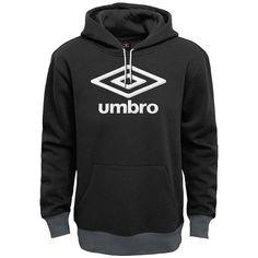 Men's Umbro Logo Hoodie, Size: Medium, Black