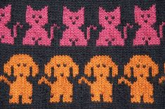 hund och katt by Borntoknit, via Flickr
