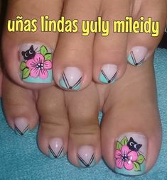French Manicure Nails, Pedicure Nails, Nail Spa, Toe Nail Art, Toe Nails, Toe Nail Designs, Lily, Jenni, Tattoos