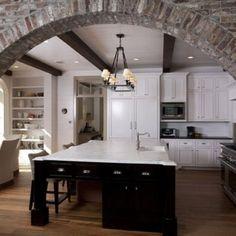 Mutfakta Tuğla Duvar Dekorasyonu