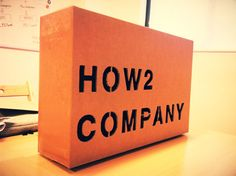 How2company Signboard created from Macbook air box