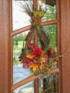 One of our Autumn Wreaths! Autumn Wreaths, Floral Design, Fall, Home Decor, Fall Wreaths, Autumn, Decoration Home, Fall Season, Room Decor