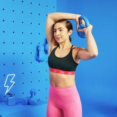 The 14 Best Kettlebell Exercises For A Total-Body Transformation These will get you strong AF. Abs Workout Video, Gym Video, Workout Plan For Women, Abs Workout Routines, Ab Workout At Home, Abs Workout For Women, Ab Workouts, Boxing Workout, Sport Basketball
