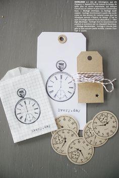 Etiquettes et montres