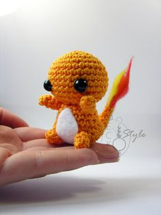 free pokemon amigurumi patterns charmander | Chibi Charmander Amigurumi by LeFay00