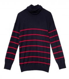 Band Of Outsiders Striped Cashmere Turtleneck - Making your way to Montauk? Here's what to wear: http://shop.harpersbazaar.com/blog/trending-now-out-east