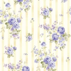Ellie Ann Blue Wallpaper by Eleanor Burns for por LilyRoseQuilts