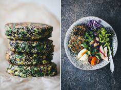 Spinach and Quinoa Patties in a bowl