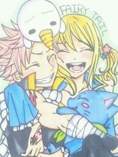NaLu and their kids! Ha cx Plue and Happy!