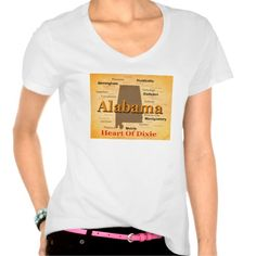 Aged Alabama State Pride Map Silhouette T Shirt