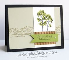 Stampin' Up! In the Meadow Masculine Card | Julie's Stamping Spot | Bloglovin'