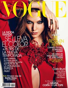 Karlie Kloss wears Gucci on the February 2013 cover of Vogue Spain. From pretaportre on T… Highlight Description Karlie Kloss wears Gucci on the February 2013 cover of Vogue Spain. From pretaportre on. Vogue Magazine Covers, Fashion Magazine Cover, Fashion Cover, Vogue Covers, Covet Fashion, Fashion Models, Fashion Killa, Fashion Trends, Karlie Kloss