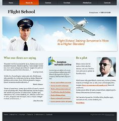 Flight School Website Templates by Modlin