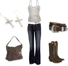 Dressy Country style... Created on polyvore.com