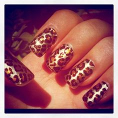 all things cheetah print ! #nails