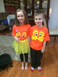 Created this very easy lorax costume for dr seuss day at school the lorax costume i used yellow craft felt orange solutioingenieria Choice Image