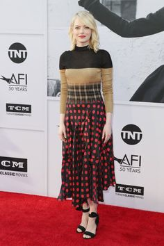 Emma Stone Comes Out Strong at the AFI Life Achievement Award Gala