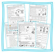 Compréhension lecture CP French Worksheets, Core French, Comprehension, Teaching Kids, Cycle 2, Homeschool, Classroom, Journal, Writing