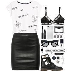 A fashion look from November 2015 featuring MANGO t-shirts, The Row mini skirts и Moschino bras. Browse and shop related looks.