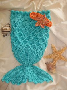 Mermaid baby photo prop set with headband....made by me!