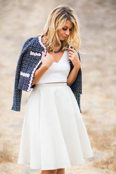 Bianca Gold and Navy Tweed Jacket – Morning Lavender