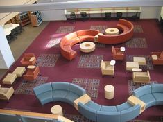 Home Library Design Ideas School Library Design, Home Library Design, Classroom Design, Design Desk, Classroom Furniture, Library Furniture, School Furniture, Atrium, Traditional Home Offices