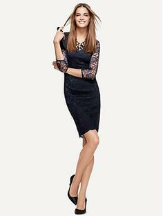 LWren Scott Collection Lace Dress Banana Republic- Love this dress, now where am I going to wear it?