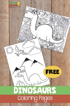Looking for dinosaur coloring pages? You are definitely in the right place. Adult and kids coloring, so you can do it together! Dinosaurs Preschool, Free Preschool, Preschool Themes, Fun Activities For Kids, Infant Activities, Dinosaur Coloring Pages, Printable Coloring Pages, Coloring For Kids, Coloring Pages For Kids