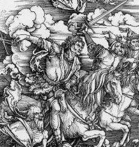 Four Horsemen of the Apocalypse - woodcut by Albrecht Durer, Renaissance Printmaker