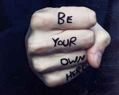 """""""Be your own hero."""" Because you are awesome Mama. :) #hotmamafit #motivation 