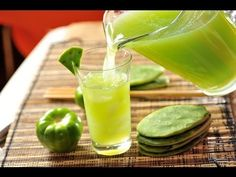 Agua de nopal - Recetas de aguas frescas - -Prickley pear drink