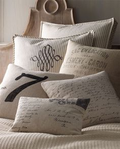 French laundry pillows c/o Horchow