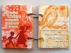 Layers of ink: Dotty Gelli Print ATC Book